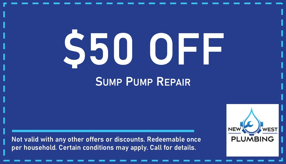 $50 off sump pump repair